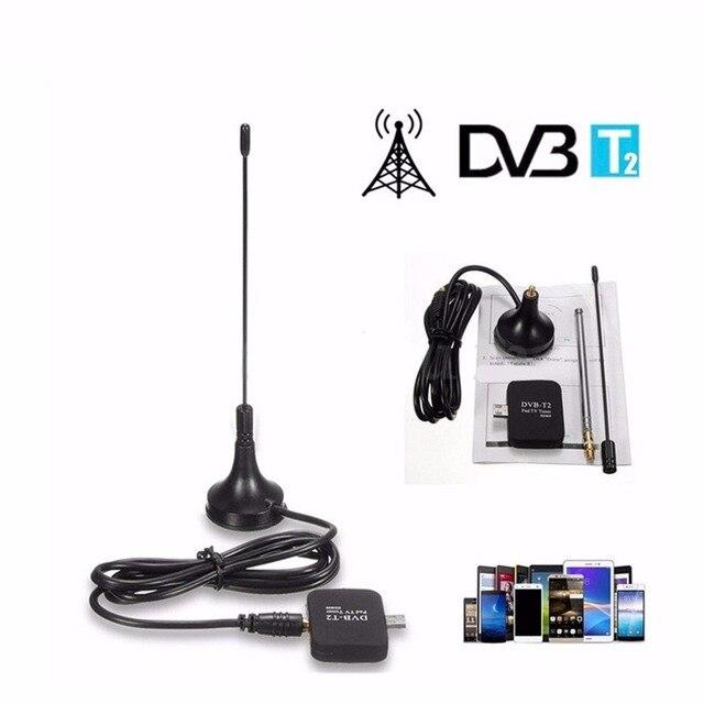 Micro usb tv sintonizador dvb-t2 dvb t2 pad tv hd receptor Digital terrestre dvb-t para la tableta del teléfono del androide 4.1 para 6.0
