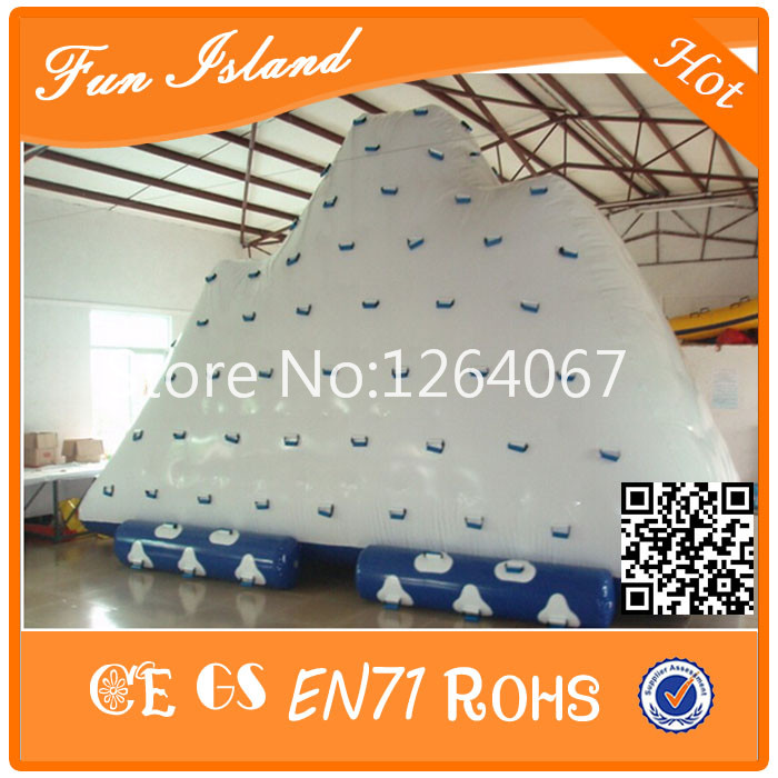 Popular Design! Inflatable Iceberg,Water Climbing Games,Inflatable Water Game 5m 4m 4m float unicorn water park inflatable water island inflatable iceberg for funny games inflatable ice tower