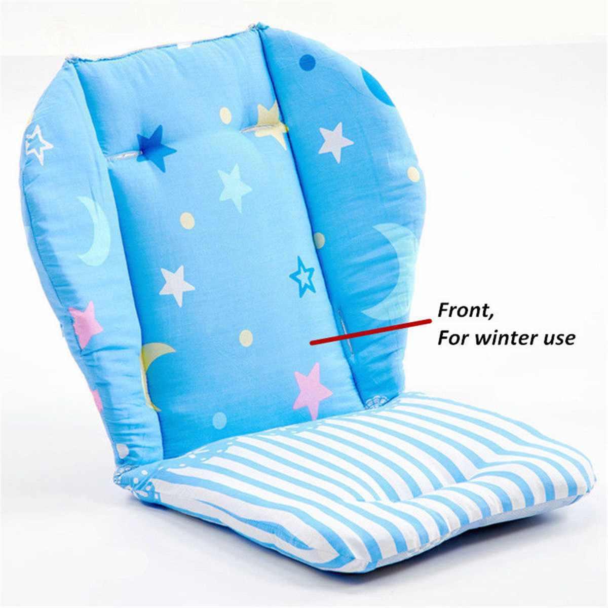 เด็กเบาะเก้าอี้สูงเด็กเด็ก Booster เสื่อแผ่นให้อาหารเก้าอี้เบาะรถเข็นเด็กที่นั่งเบาะผ้าฝ้ายผ้า
