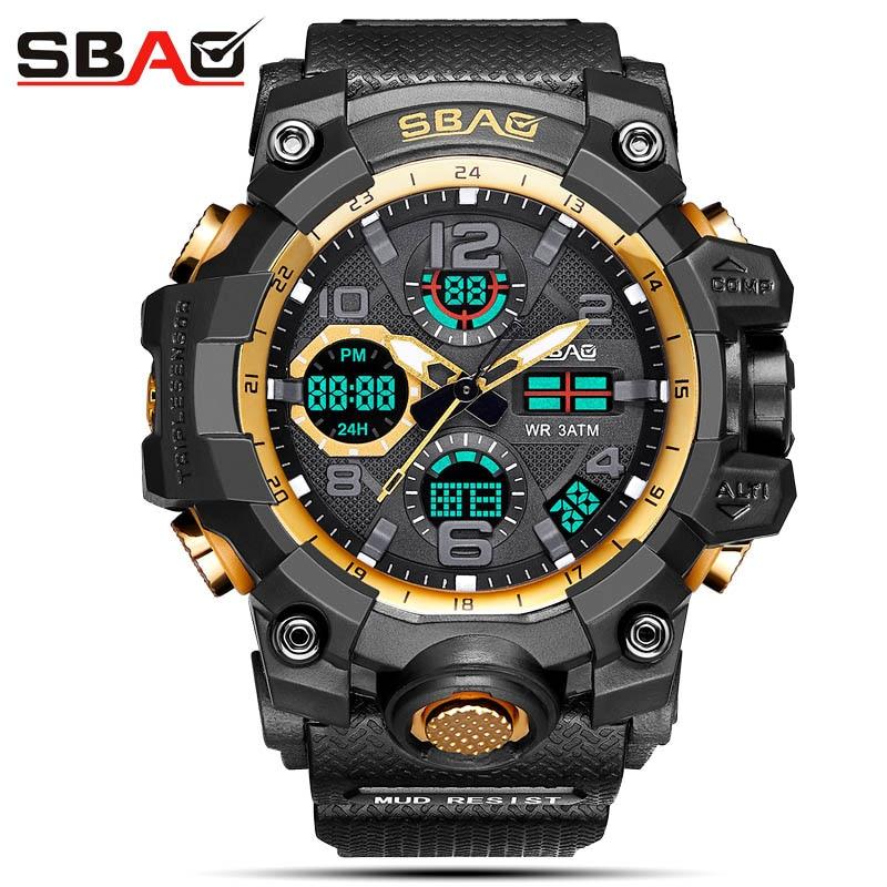 SBAO Top Brand Men Electronic Watch Male Sports Watch Multi-Functional Military Watch Men Waterproof Clock Relogio Feminino цена и фото
