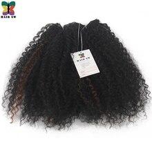 Волос SW афро вьющиеся 100% Kanekalon Синтетические волосы Плетения КОС расширения мягкий с естественным живота прическа для черных Для женщин 14″