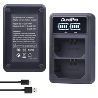 Durapro 1pc LED USB Dual Charger For Sony NP FZ100 NP FZ100 BC QZ1 Alpha 9