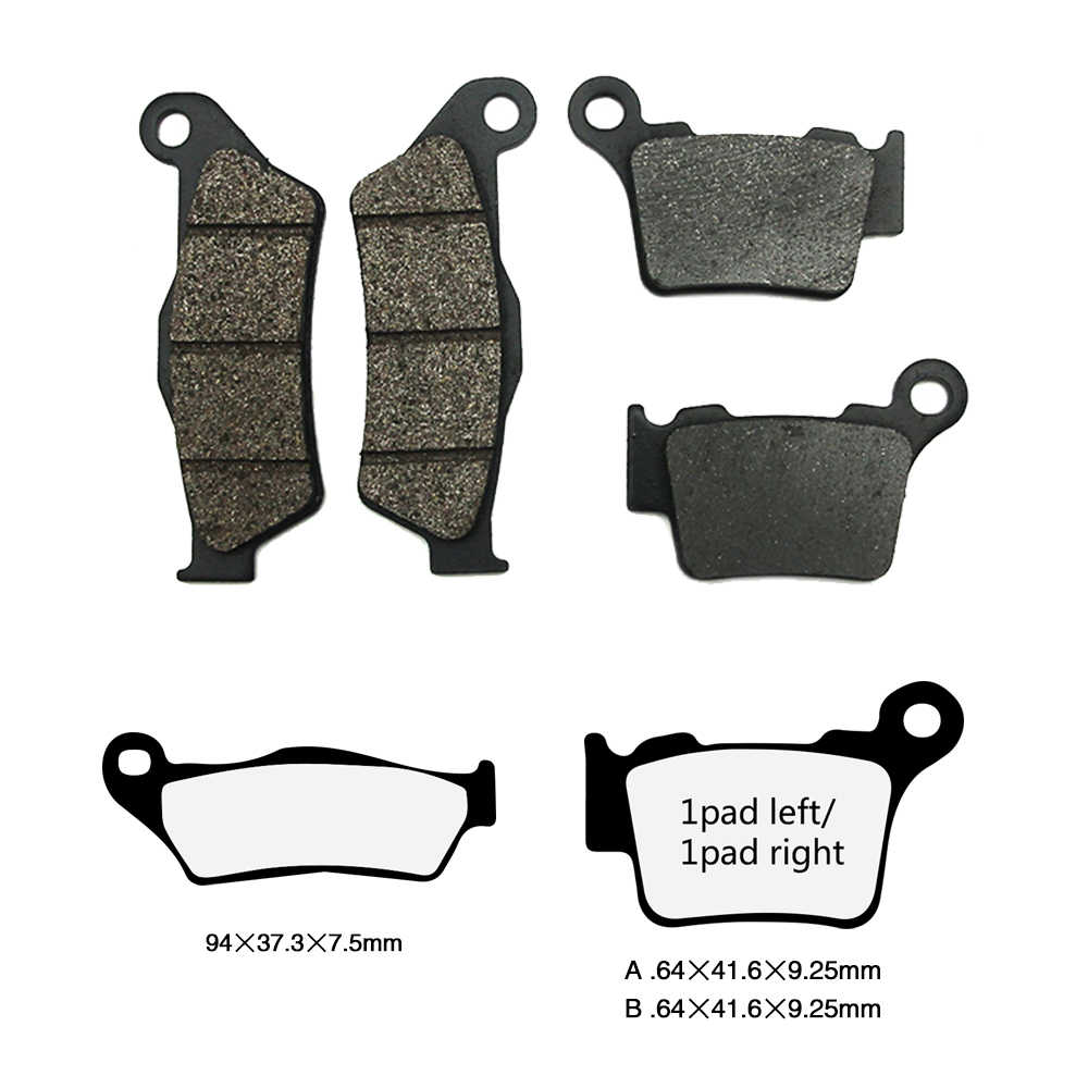 ZS Racing Motorcycle Parts Rear Brake Pads Disks For VR250 RX125 Pulsar 180 150 220F BX 250 GX450X Monster 400ie