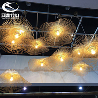 Southeast Asia Chandelier Creative Personality Bamboo Lamp New Chinese Hotel Clubhouse Restaurant Tea Room Hall Art Shape Lamp
