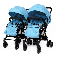 Twins baby stroller can be split high landscape light double can sit in the dragon and twins fast folding shock