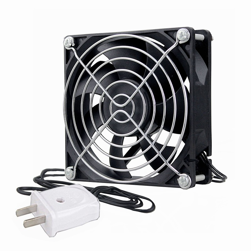 1 Piece Gdstime DC EC 110V 120V 220V 240V 80mm X 25mm Sleeve Fan 80x80x25mm 2-Line Electric Axial Cooler  8cm