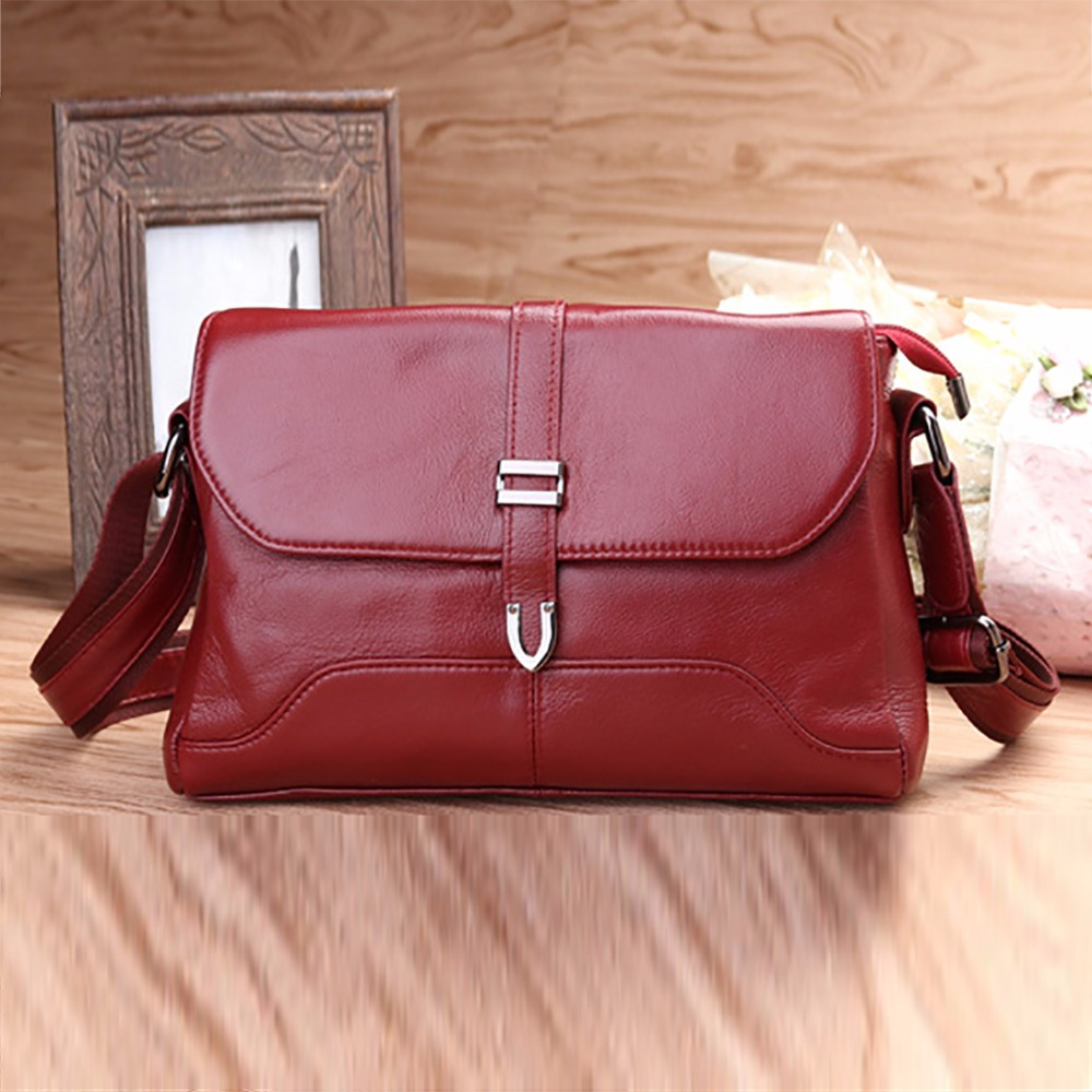 Fashion Women Genuine Cowhide Leather Single Shoulder Bag Travel Casual Ladies Luxury Messenger Crossbody Bags High