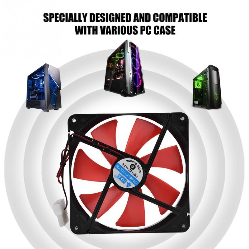 Universal 14cm 12V 2300RPM Ultra-quiet Case Cooler PC Cooling Fan for Desktop Computer