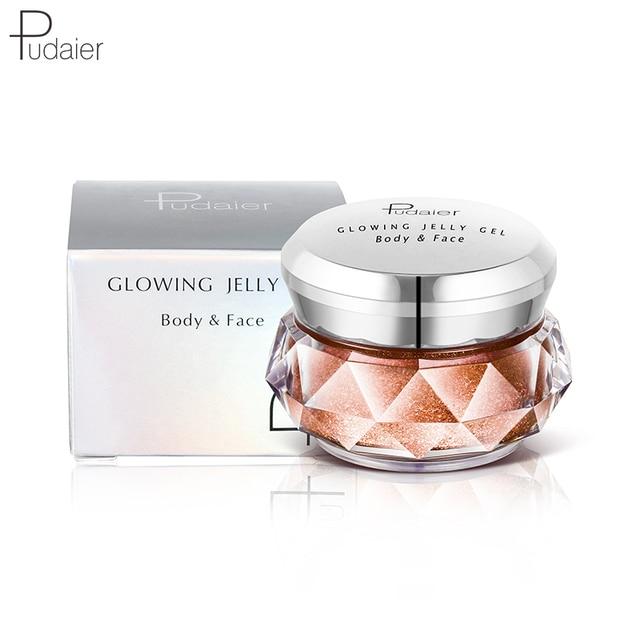 Pudaier Bronzer Metallic iluminador Highlighter Powder maquiagem Glitter Liquid Jelly Gel Cream Body Shimmer Makeup TSLM2 4