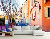 European town street landscape living style wallpaper Home Decoration classic wallpaper for walls