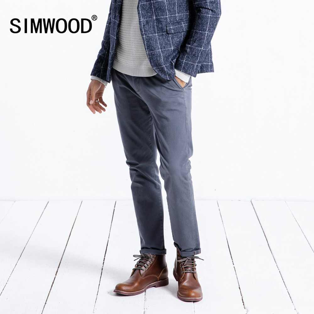 4e14ca0986b42 ... SIMWOOD 2019 Spring Summer New Casual Pants Men Cotton Slim Fit Chinos  Fashion Trousers Male Brand ...