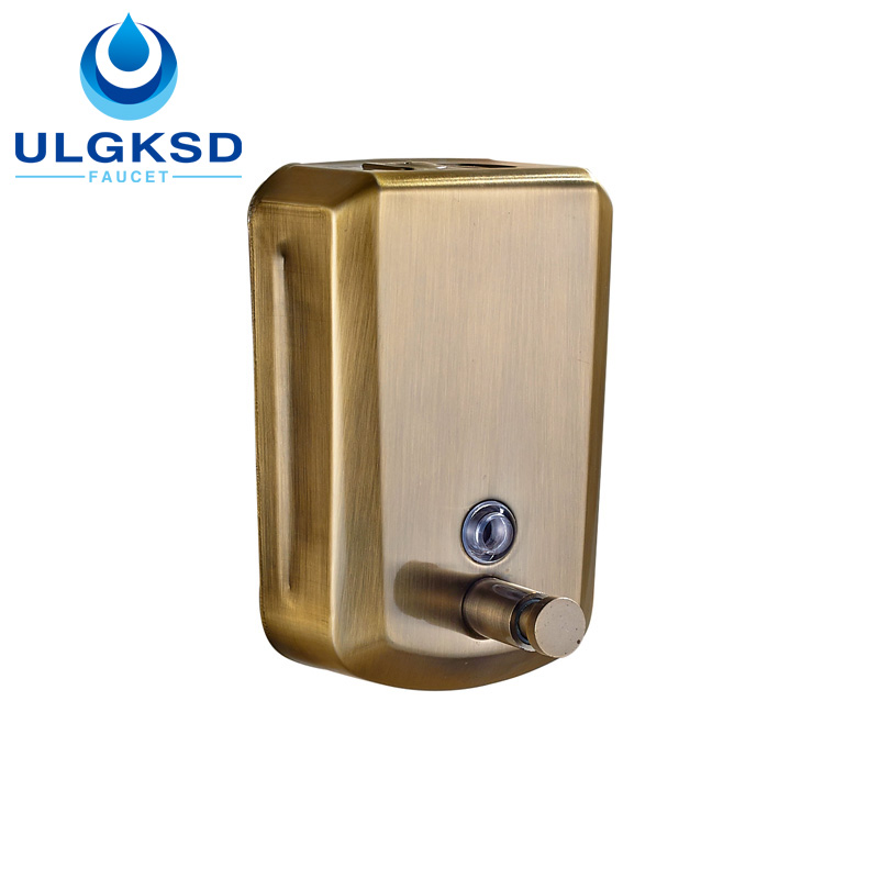 ULGKSD Free Shipping Bathroom Wall Mounted Liquid Soap Dispensers Antique Brass Finish with 800ml Capacity цена 2017