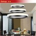 Mejor precio Modern tres anillos ( 11.8 - 19.7 - 27.6 pulgadas ) de techo de la lámpara del accesorio de iluminación de acrílico Circular luces de araña