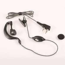 Etmakit 2 pin 3.5mm Walkie Talkie K Type PTT Headset with Microphone for Handheld Two Way Radio For BaoFeng PuXing Kenwood(China)