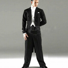 Customized Men Ballroom Tail Suit International Standard Set 35%woollen 5pcs Free By Dhl