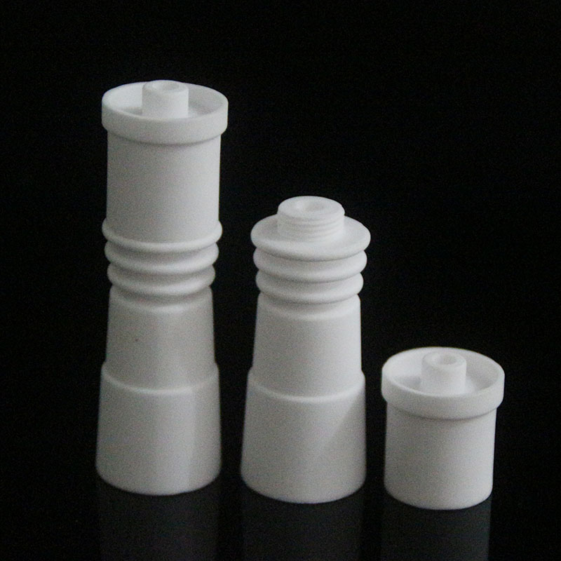 14mm 18 8mm Ceramic Nails Ceramic Carb Caps with Dabbers Silicone Jars for oil rigs glass Hookahs in Tobacco Pipes Accessories from Home Garden