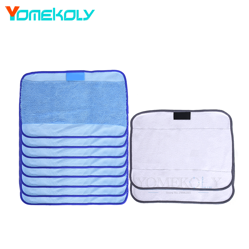 8pcs Wet & 2pcs Dry Pro-Clean Mopping Cloths for Braava Floor Mop Cloths for Robot irobot Braava Minit 4200 5200 380 380t seebest d750 turing 1 0 dry and wet mop robot vacuum cleanerwith water tank and gps navigator planned clean route clean robot