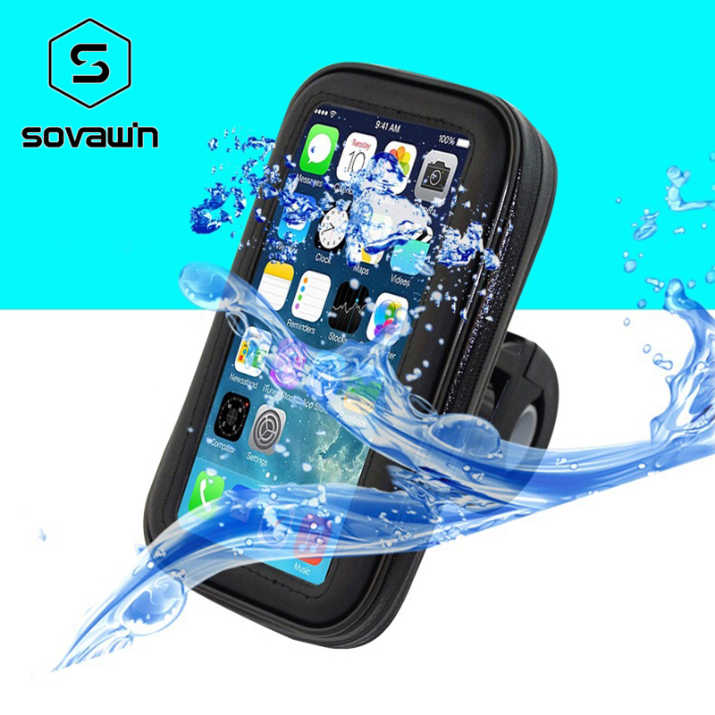 Universal Bicycle Bike Mobile Phone Waterproof Bag Watertight Phone Case Stand Holder Support For 4.7 5.5 6.3 inch Smart Phone pochette étanche pour téléphone