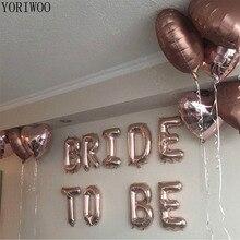 يوريوو بالون العروس باللون الذهبي الوردي ليكون احباط بالونات حروف وأرقام السيد السيدة الزفاف العازبة زينة الحفلات الدجاجة زينة الحفلات