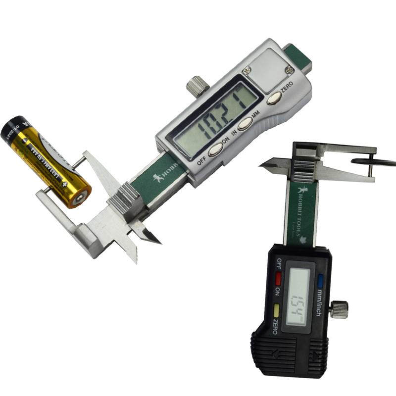 High quality 0 25mm Mini Pocket Digital Jewel Gem Gemstone metal casing Thickness Gauge Caliper with