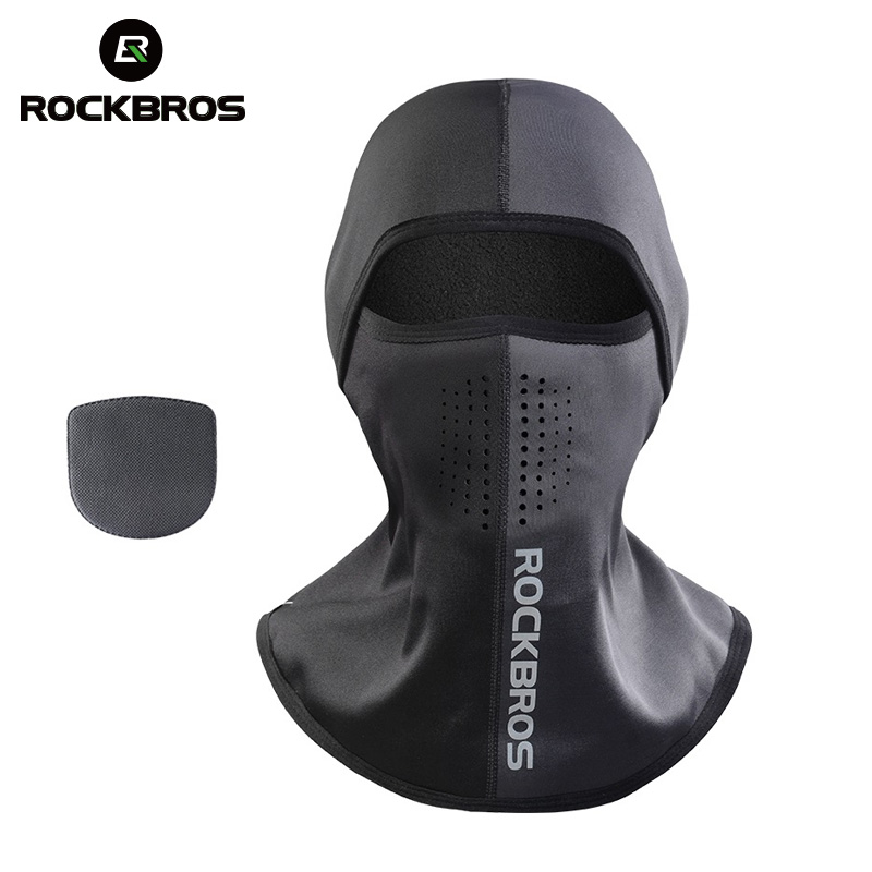 ROCKBROS Ski Mask Winter Thermal Fleece Full Face Cover Scarves Outdoor Balaclava Windproof Cycling Headgear Sport Equipment