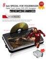 8 polegadas 2 Din Android 4.4.4 Car DVD Player HD TFT LCD Sensível Ao Toque tela do Player De Vídeo Do Carro Suporte de Navegação GPS 3G wifi Rede PC Carro