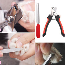 Pet Supplies Portable Dog Cat Nail Clipper + File Kit Stainless Steel Toe Care Dogs Claw Nails Cutter Scissor Grooming J