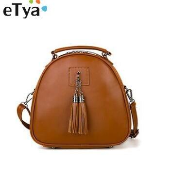 Leather Women Student Tassel School Shoulder bags Travel Bag Ladies PU back pack backpacks for teenage girls