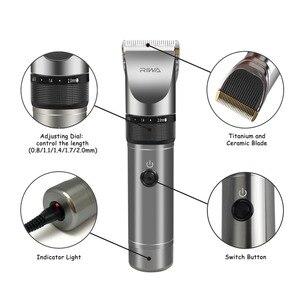 Image 3 - Riwa Professional Hair Clipper 2000mAh Lithium Battery Aluminum 100 240V Hair Cutting Machine X9 Hair Trimmer Hair Shaver