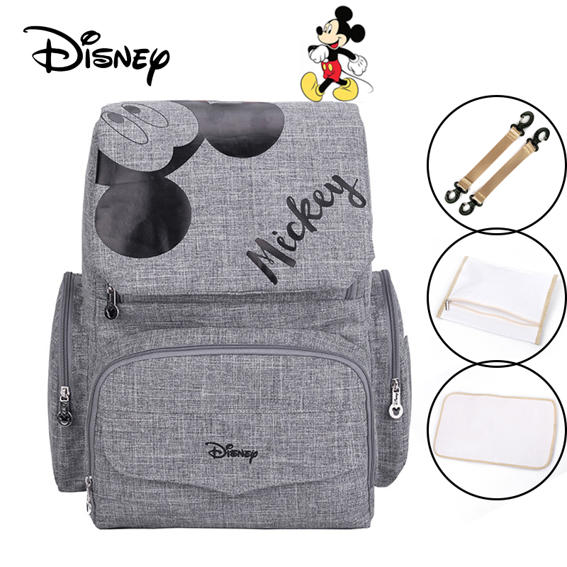 Disney Baby Diaper Bag +3 Plus ( Hook , Dry And Wet Bags , Baby Outdoor Mat ) Maternal Stroller Bags Nappy Backpack Mommy Bag