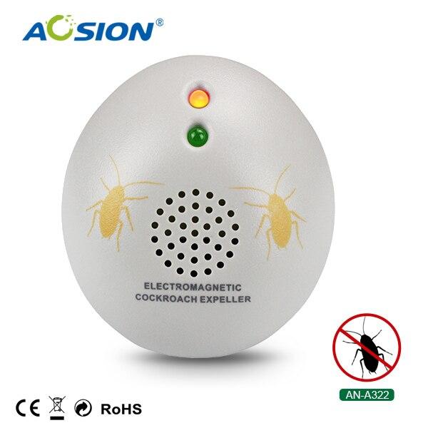 2 X AOSION Indoor scarafaggio repeller elettromagnetico delle onde sonore per respingere chase formiche ragni pulci bugs repeller del parassita spina di UE