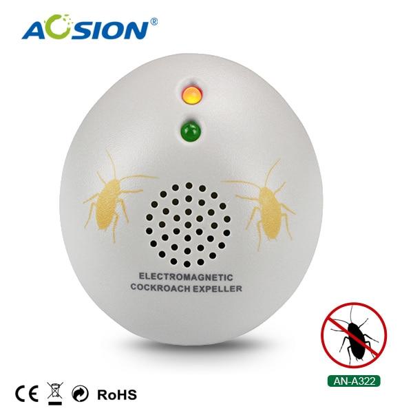 2 X AOSION interior cucaracha repelente de las ondas electromagnéticas para repeler a chase hormigas arañas pulgas insectos repelente de plagas enchufe de la UE