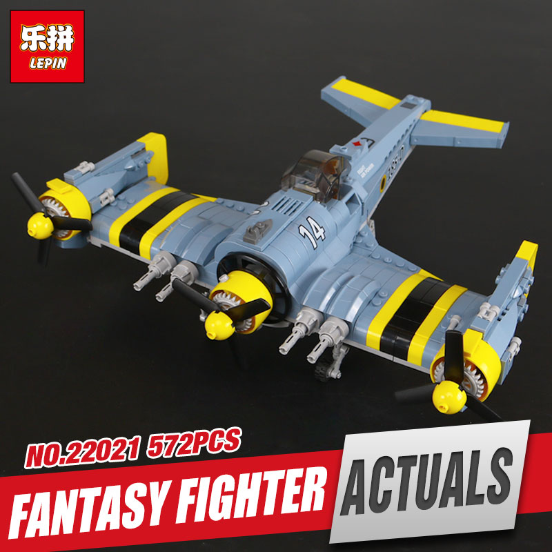 Lepin 22021 572Pcs Technical Series The Beautiful Science Fiction Fighting Aircraft Set Building Blocks Bricks Toys Model Gift black pearl building blocks kaizi ky87010 pirates of the caribbean ship self locking bricks assembling toys 1184pcs set gift