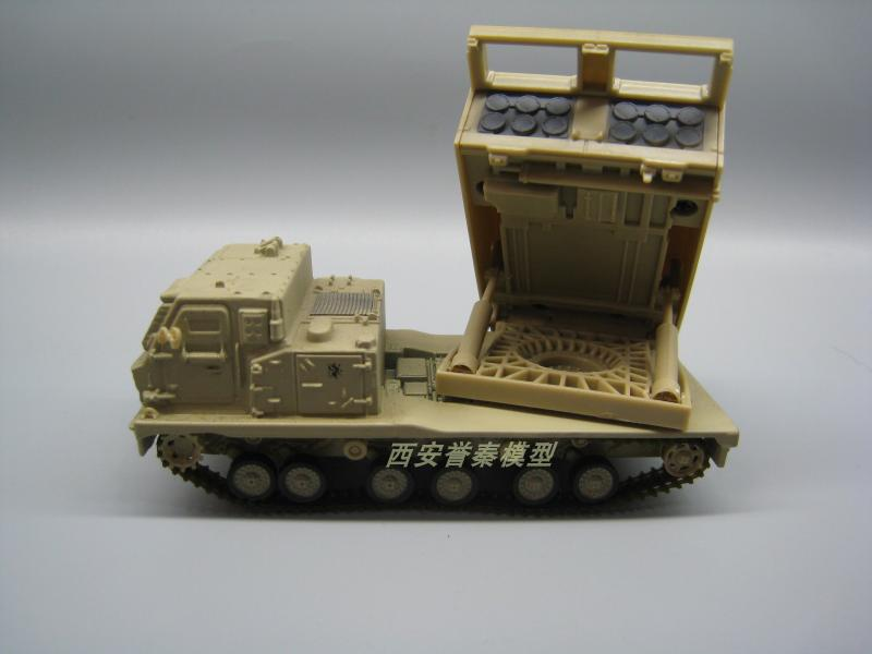 AMER 1/72 Scale Military Model Toys .USA M270 Multiple Launch Rocket System - 2003 Diecast Metal Tank Model Toy For Collection