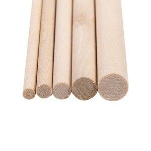 Image 5 - 10pcs 30cm Long DIY Wooden Arts Craft Sticks Dowels Pole Rods Sweet Trees Wood Tool 4mm 10mm