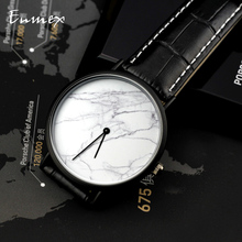 цена на 2019 gift Enmex brief men clock gentleman wristwatch white marble face creative designs Ultrathin case fashion quartz watches