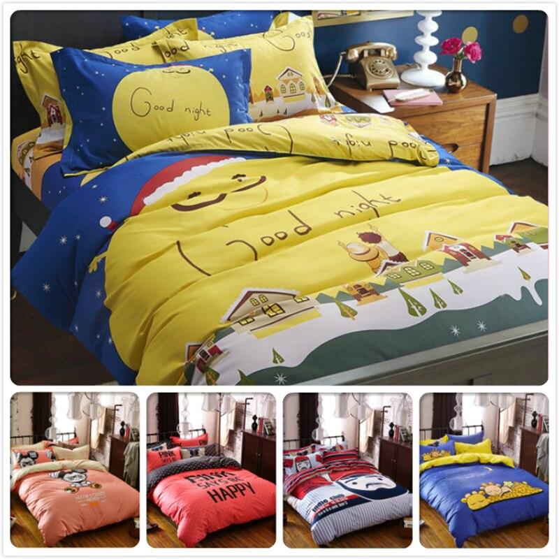 Clever Blue Starry Winter Kids Bedlinens 3/4 Pcs Bedding Set 1.5m 1.8m 2m Bedsheet Single Double Twin Queen King Size Duvet Quilt Cover Strengthening Waist And Sinews Power Source