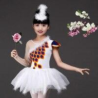 Children's Ballet Skirt Costume Girl Swan Dance Dress Figure Skating Dress Professional Platter Ballet Tutu Dress for Kids