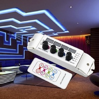 5A*4CH Output LED RGBW Strip Controller multi function light display controller, 4 channel LED RGBW Controller DC12V 24V