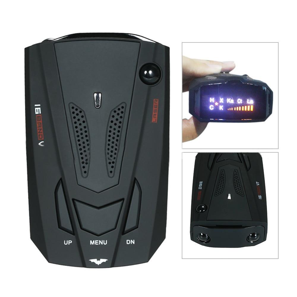 360 Grad Auto 16 Band V7 GPS Sicherheit Radarwarner Voice Alert Laser LED