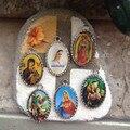 25 шт. подарки католической михаил архангел мэри пресвятого сердца марии и младенца иисуса медаль ожерелья богоматери меджугорье
