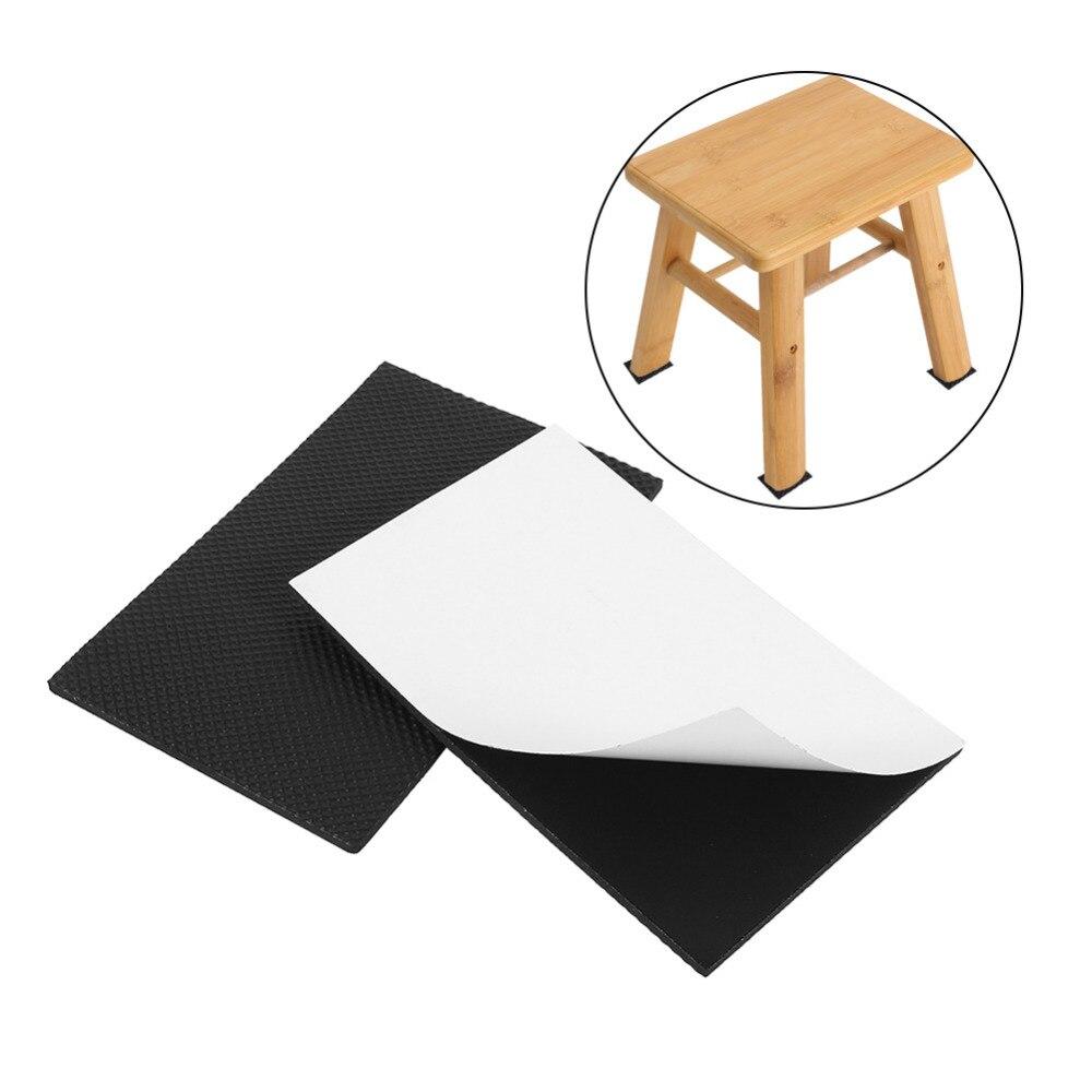 Tools 2pcs/lot 9.8cmx15cm Black Non-slip Self Adhesive Floor Protectors Ottomans Furniture Sofa Desk Chair Trp Rubber Feet Pads