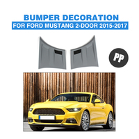 2pcs/set PP Grey Front Side Fender Air Flow Vents Trim for Ford Mustang 2 Door 2015 2017