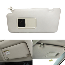 Car Interior Front Left / Right Sun Visor Panel Sunvisor with Makeup Mirror For Nissan Tiida 2005 2006 2007 2008 2009 2010