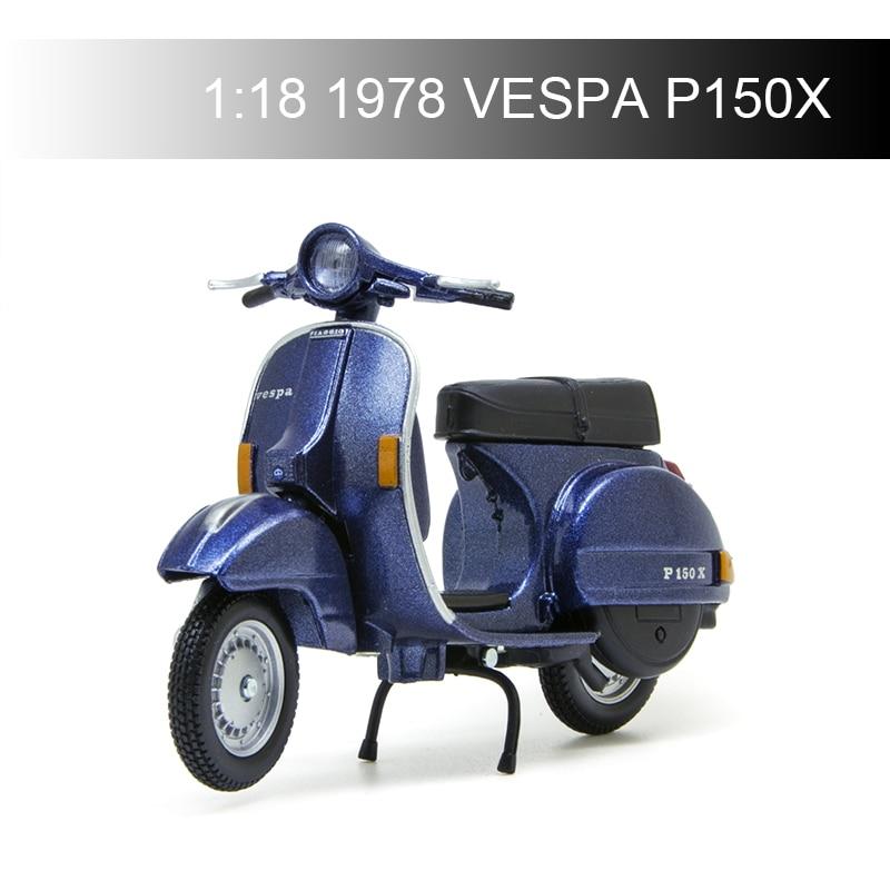 Maisto VESPA Piaggio 1978 P150X 1:18 Motorcycle Models model bike Base Diecast Moto Children Toy For Gift Collection