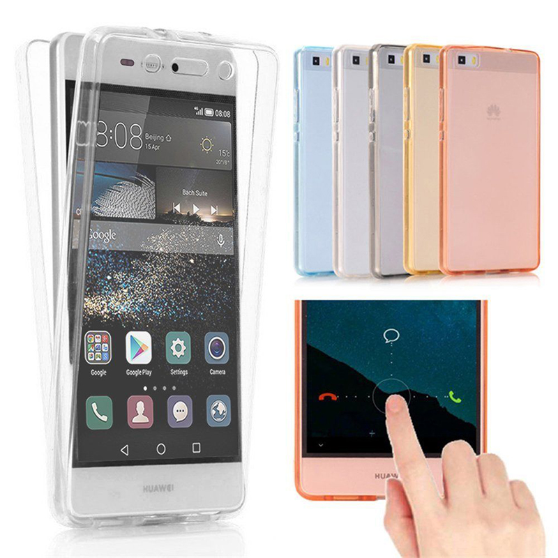 ProElite Soft Clear TPU Silicon Phone Case for Huawei Mate 10 Lite P20 Lite P9 Lite P10 Plus 360 Full Body Flexible Back Cover