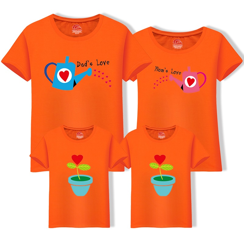 HTB1Nlw9nWmWBuNjy1Xaq6xCbXXaL - Matching Family Clothing 1 piece Family Cultivate Love Summer Short-sleeve T-shirt Outfits For Mother Daughter And Father Son