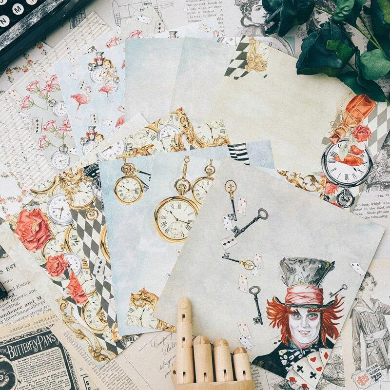 PJP ARTISANAT 28 pcs Simple face Fond Imprimé papier créatif papercraft papier d'art à la main scrapbooking kit livres