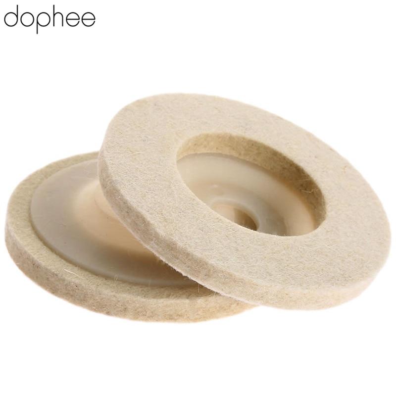 Dophee 100mm Dremel Accessories Polishing Pad Wool Felt Buffing Wheel Grinding Pad Polisher Disc For Metal Dremel Rotary Tool *1
