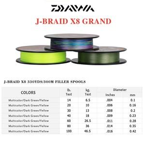 Image 5 - Il Best Prezzo 300M DAIWA J BRAID GRAN Intrecciato PE Linea Super Forte Giappone Monofilamento Intrecciato la Linea di Pesca Allingrosso
